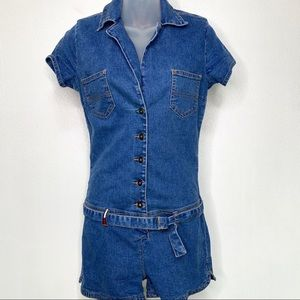 TOMMY JEANS Blue Denim Romper Size Small